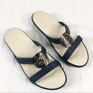 Crocs sandals Flip flop wedge